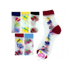 108 Units of hi cut argyle 6-8 socks