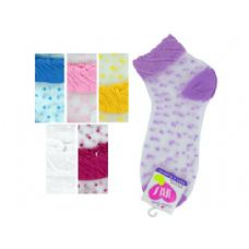 108 Units of mid cut dots 6-8 socks - Womens Ankle Sock