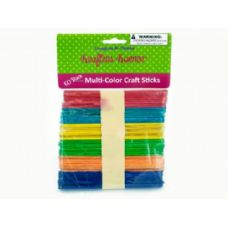 75 Units of Multi-color craft sticks - Craft Wood Sticks and Dowels