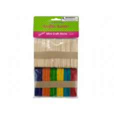 75 Units of Multi-colored mini craft sticks - Craft Wood Sticks and Dowels