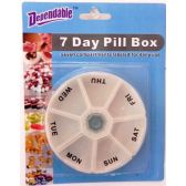 48 Units of Deluxe 7 Day Pill Box - Pill Boxes and Accesories