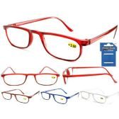 144 Units of Plastic Half-Eye Colorful Cheetah Readers - Reading Glasses
