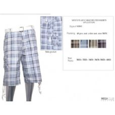 48 Units of Mens Plaid Cotton Blend Shorts - Mens Shorts