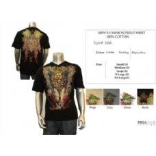 24 Units of Mens Fashion Graphic T-Shirt S-XXL 100% Cotton - Mens T-Shirts