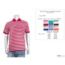 36 Units of Mens Fashion Stripe Polo Shirt S-XL - Mens Polo Shirts