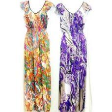 36 Units of Long Ruffle Shoulder Dress Assortments - Womens Sundresses & Fashion