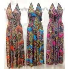 36 Units of Long Halter Back Dress - Womens Sundresses & Fashion