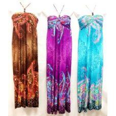 36 Units of Long Strap Neck Dresses - Womens Sundresses & Fashion