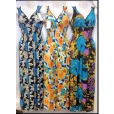 36 Units of Long Dresses Assorted Prints with Shoulders - Womens Sundresses & Fashion