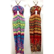 24 Units of long dresses with beaded necklines - Womens Sundresses & Fashion