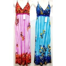 24 Units of Simple Long Straped Dress Assorted - Womens Sundresses & Fashion