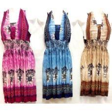 36 Units of Short Dresses Assorted Cultural Prints - Womens Sundresses & Fashion
