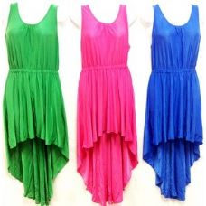 36 Units of Solid Color Short High Low Dresses - Womens Sundresses & Fashion