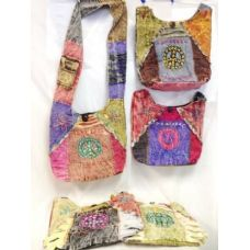 24 Units of Hobo Hippie Peace Sign Sling Crossbody Nepal purse - Handbags