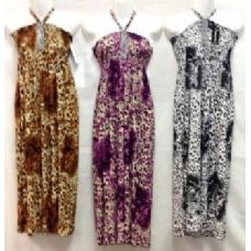 36 Units of Long leopard print Dresses Assorted style - Womens Sundresses & Fashion
