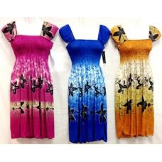36 Units of Short Dress With Floral Print Ruffle Shoulder Style - Womens Sundresses & Fashion