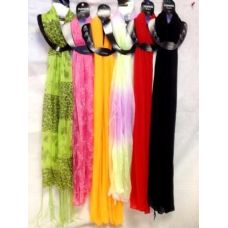 480 Units of Light Weight Scarves assorted styles and colors 480 pcs - Womens Fashion Scarves