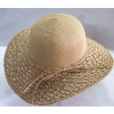 36 Units of Ladies Summer Hat With Bow Around - Sun Hats