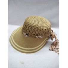36 Units of Ladies Brown Summer Hat - Sun Hats