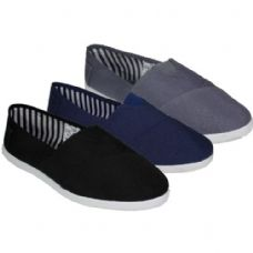 24 Units of Mens Slip On Causal Sneaker In Black Only - Mens Sport Shoes
