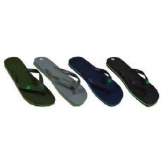 60 Units of Men's Solid Color Flip Flops - Men's Flip Flops