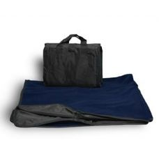 24 Units of Fleece/Nylon Picnic Blanket Navy Color - Fleece & Sherpa Blankets