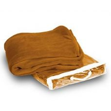 24 Units of Micro-Plush Camel  Fleece Blanket