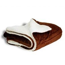 12 Units of Micro Mink Sherpa Chocolate Blanket