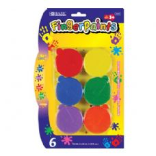 72 Units of BAZIC Assorted Color 40ml Finger Paint (6/Pack) - Paint/Paint Brushes/Finger Paint