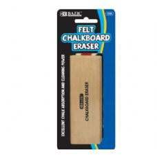 72 Units of BAZIC Felt Chalkboard Eraser - ERASERS