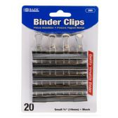 "48 Units of BAZIC Small 3/4"" (19mm) Black Binder Clip (20/Pack) - CLIPS/FASTENERS"