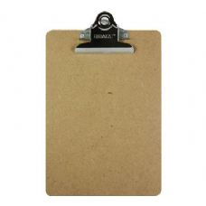 48 Units of BAZIC Memo Size Hardboard Clipboard w/ Sturdy Spring Clip - Clipboards and Binders