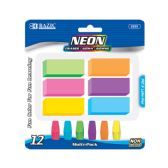 48 Units of BAZIC Neon Eraser Sets (12/Pack) - ERASERS