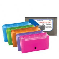24 Units of BAZIC 5-Pockets Coupon/Personal Check Size Expanding File - Envelopes