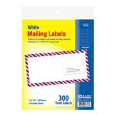 """48 Units of BAZIC 1"""" X 2 5/8"""" White Address Labels (300/Pack) - Labels ,Cards and Index Cards"""