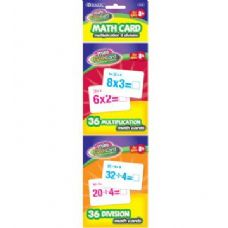 24 Units of BAZIC 36 Ct. Multiplication & Division Mini Flash Card (2/Pack) - Teacher / Student