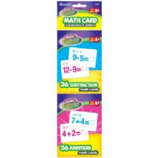 24 Units of BAZIC 36 Ct. Addition & Subtraction Mini Flash Card (2/Pack) - Teacher / Student