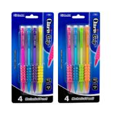 72 Units of BAZIC Claris 0.7 mm Mechanical Pencil w/ Grip (4/Pack) - PENCILS