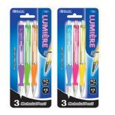 72 Units of BAZIC Lumiere 0.7 mm Mechanical Pencil w/ Grip (3/Pack) - PENCILS