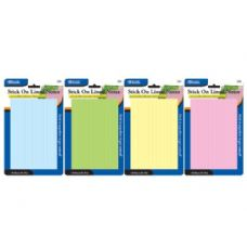 "48 Units of BAZIC 50 Ct. 4"" X 6"" Lined Stick On Notes - Dry Erase"