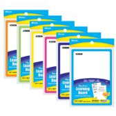 "72 Units of BAZIC 7.4"" X 10.3"" Double Sided Dry Erase Learning Board w/ Marker & Eraser - Dry Erase"