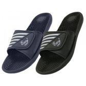 36 Units of Men's Slide Massage Velcro Sandals