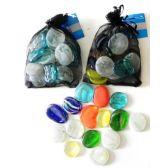 48 Units of Decorative Jumbo Glass Beads - Craft Beads
