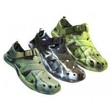 24 Units of Men's Camouflage Velcro Sandals