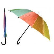 24 Units of 37 Inches Automatic Cane Rainbow Umbrella - Umbrellas & Rain Gear