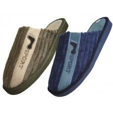 48 Units of Men's House Corduroy Slippers - Mens Slippers