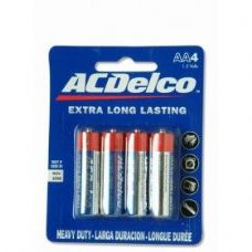 48 Units of ACDelco Hvy Duty AA Battery 4Pk - Batteries