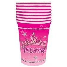 144 Units of Princess Cup 8CT - Party Tableware