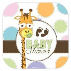 "144 Units of Baby Shower 7"" Plate 8Ct. - Baby Shower"