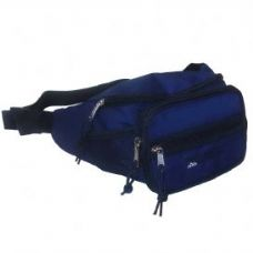 24 Units of Deluxe Navy Belt Bag - Leather Fanny Pack
